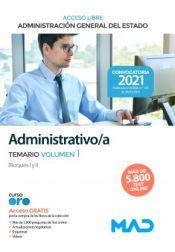 Administrativo de la Administración General del Estado.Turno Libre - Ed. MAD