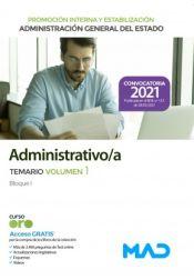Administrativo de la Administración General del Estado. Estabilización yPromoción Interna - Ed. MAD