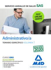 Administrativo/a del Servicio Andaluz de Salud. Temario específico volumen 1 de Ed. MAD