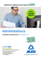Administrativo/a del Servicio Andaluz de Salud. Temario específico volumen 2 de Ed. MAD