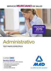 Administrativo del Servicio Murciano de Salud. Test parte específica de Ed. MAD