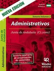 Administrativos de la Junta de Andalucía (C1.1000). Temario volumen 2 de Ediciones Rodio