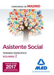 Asistentes sociales de la Comunidad de Madrid Temario especifico volumen 2 de Ed. MAD