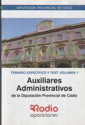 Auxiliar Administrativo de la Diputación Provincial de Cádiz - Rodio Ediciones