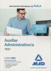 Auxiliar Administrativo de la Diputación Provincial de Ávila. Test de Ed. MAD