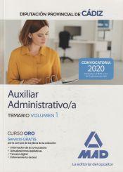Auxiliar Administrativo de la Diputación Provincial de Cádiz - Ed. MAD