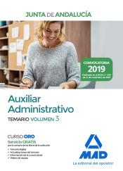 Auxiliar Administrativo de la Junta de Andalucía. Temario Volumen 3 de Ed. MAD