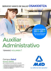 Auxiliar Administrativo del Servicio Vasco de Salud (Osakidetza) - Ed. MAD