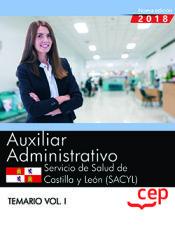 Auxiliar Administrativo del Servicio de Salud de Castilla y León (SACYL) - Ed. CEP