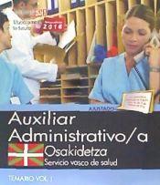 Auxiliar Administrativo del Servicio Vasco de Salud-Osakidetza - EDITORIAL CEP