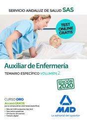 Auxiliar de Enfermería del Servicio Andaluz de Salud. Temario Específico Volumen 2 de Ed. MAD