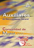 Auxiliares de Administración General de la Comunidad Autónoma de Madrid. Temario