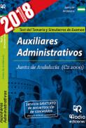 Auxiliares Administrativos de la Junta De Andalucía. Test del temario y simulacros de examen de Rodio Ediciones