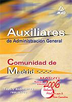 AUXILIARES DE ADMINISTRACIÓN GENERAL DE LA COMUNIDAD AUTÓNOMA DE MADRID. TEST