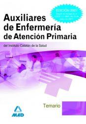 Auxiliares de Enfermería de Atención Primaria del Instituto Catalán de la Salud. Temario