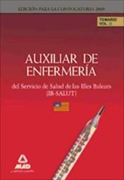 Auxiliares de Enfermería del IB-SALUT. Temario. Volumen II