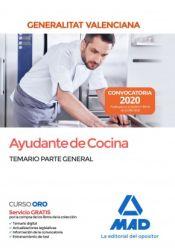 Ayudante de Cocina de la Administración de la Generalitat Valenciana - Ed. MAD