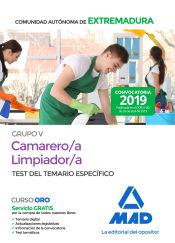 Camarero/a-Limpiador/a Personal Laboral (Grupo V) de la Administración de la Comunidad Autónoma de Extremadura. Test del Temario específico de Ed. MAD