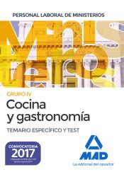 Cocina y gastronomía Personal Laboral de los Ministerios. Temario específico y test