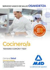Cocinero/a de Osakidetza-Servicio Vasco de Salud. Temario común y test