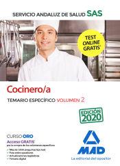 Cocinero/a del Servicio Andaluz de Salud. Temario específico volumen 2 de Ed. MAD