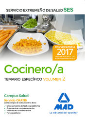 Cocinero/a del Servicio Extremeño de Salud (SES). Temario Específico volumen 2