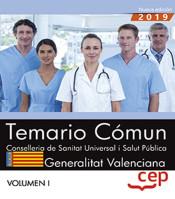 Conselleria de Sanitat Universal i Salut Pública. Generalitat Valenciana. Temario Común Vol. I. de EDITORIAL CEP