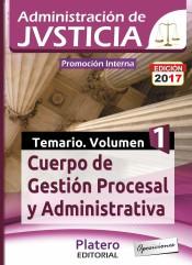 Cuerpo de Gestión Procesal y Administrativa de la Administración de Justicia. Promoción interna - Platero Editorial