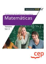 Cuerpo de Profesores de Enseñanza Secundaria. Matemáticas - EDITORIAL CEP