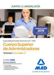 Cuerpo Superior de Administradores [Especialidad Gestión Financiera (A1 1200)] de la Junta de Andalucía. Temario Volumen 2 de Ed. MAD