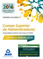 Cuerpo Superior de Administradores [Especialidad Gestión Financiera (A1 1200)] de la Junta de Andalucía. Vol. 6, Temario de Ed. MAD