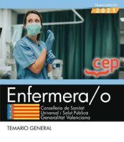Enfermeras/os de Instituciones Sanitarias de la Conselleria de Sanitat de la Generalitat Valenciana - EDITORIAL CEP