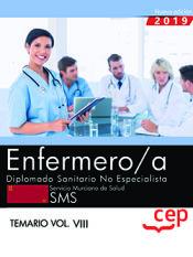 Enfermero/a. Diplomado Sanitario no Especialista. Servicio Murciano de Salud. SMS. Temario Vol.VIII de EDITORIAL CEP