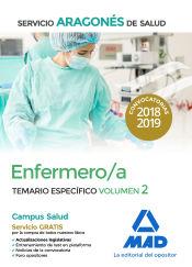 Enfermero/a del Servicio Aragonés de Salud. Temario específico volumen 2 de Ed. MAD