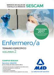 Enfermero/a del Servicio de Salud de Castilla-La Mancha (SESCAM). Vol. 2, Temario específico