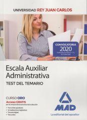 Escala Auxiliar Administrativa de la Universidad Rey Juan Carlos. Test del temario de Ed. MAD