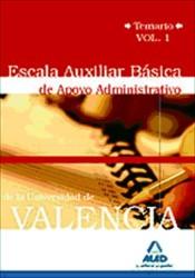 Escala Auxiliar Básica de Apoyo Administrativo de la Universidad de Valencia - Ed. MAD