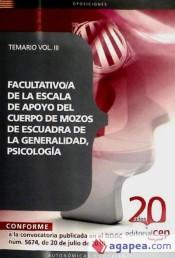 Facultativo/a de la Escala de Apoyo del Cuerpo de Mozos de Escuadra de la Generalidad, Psicología. Temario Vol. III.