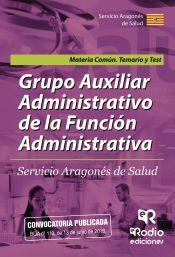 Grupo Auxiliar Administrativo de la Función Administrativa del Servicio Aragonés de Salud - Ediciones Rodio