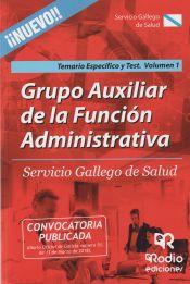 Auxiliar de la Función Administrativa del Servicio Gallego de Salud (SERGAS) - Ediciones Rodio