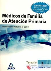 Médicos de Familia del Instituto Catalán de la Salud. Temario volumen III
