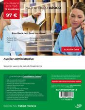 PACK AHORRO BÁSICO. Auxiliar Administrativo. Servicio vasco de salud-Osakidetza de Ed. CEP