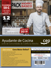 PACK AHORRO BÁSICO. Ayudante de Cocina. Junta de Comunidades de Castilla-La Mancha. (Incluye Temario y Test + Curso Básico Online) de Ed. CEP