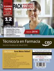 PACK AHORRO BÁSICO. Técnico/a en farmacia. Servicio Andaluz de Salud (SAS) de Ed. CEP
