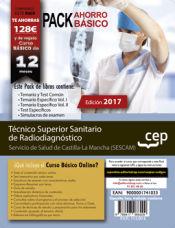 PACK AHORRO BÁSICO. Técnico Superior Sanitario de Radiodiagnóstico. Servicio de Salud de Castilla-La Mancha (SESCAM) de Ed. CEP