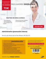 PACK AHORRO EXCELLENCE. Administrativo (promoción interna). Servicio de Salud de las Illes Balears (IB-SALUT) de Ed. CEP