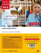 PACK AHORRO EXCELLENCE. Auxiliar Administrativo. Servicio vasco de salud-Osakidetza de Ed. CEP