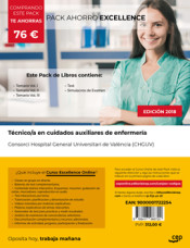 PACK AHORRO EXCELLENCE. Técnico/a en cuidados auxiliares de enfermería. Consorci Hospital General Universitari de València (CHGUV) de Ed. CEP