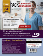PACK AHORRO EXCELLENCE. Técnicos Auxiliares, opción Cuidados Auxiliares de Enfermería de la Administración Pública Regional de Murcia. de Ed. CEP