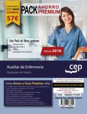 PACK AHORRO PREMIUM. Auxiliar de Enfermería. Diputación de Toledo de Ed. CEP